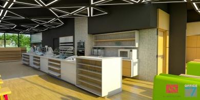 proiect benzinarie design interior magazin