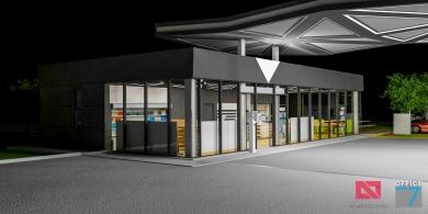proiect benzinarie design magazin