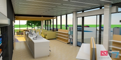 proiect benzinarie interior magazin