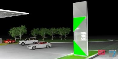 design totem benzinarie